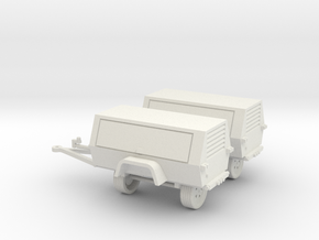 Generator/Compressor (2)Pack 1-87 HO Scale in White Natural Versatile Plastic