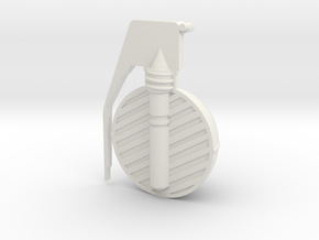 Frag Grenade Cross Section in White Strong & Flexible
