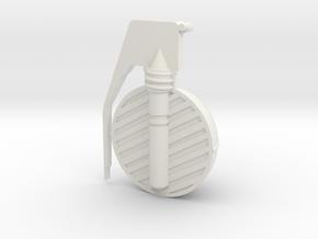 Frag Grenade Cross Section in White Natural Versatile Plastic