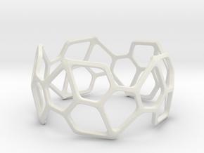 Bracelet Hex in White Natural Versatile Plastic
