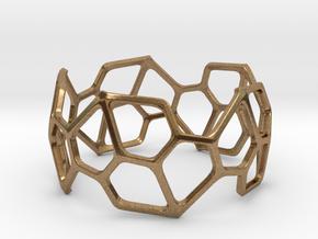 Bracelet Hex in Natural Brass