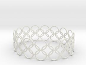 Bracelet CVB XL in White Natural Versatile Plastic