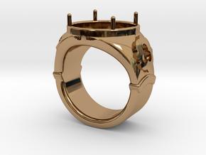 Ring Trefoil in Polished Brass: 13 / 69