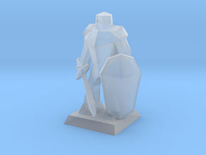 Miniature Mini Knight   in Smoothest Fine Detail Plastic