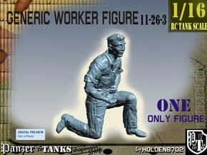 1-16 Generic Worker Figure 11-26-3 in White Natural Versatile Plastic