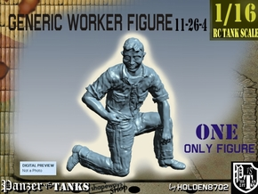 1-16 Generic Worker Figure 11-26-4 in White Natural Versatile Plastic