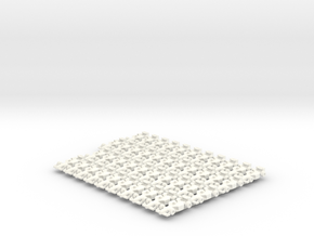 Miniature F1 (42pcs) in White Strong & Flexible Polished