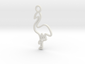 Flamingo Charm! in White Natural Versatile Plastic