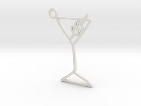 Martini Charm! in White Natural Versatile Plastic