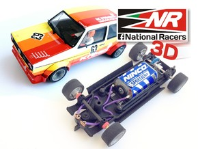 3D Chassis - Spirit VW Golf I (Inline) in Black Strong & Flexible