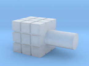 Rubik's Cube For Lego Characters in Smooth Fine Detail Plastic