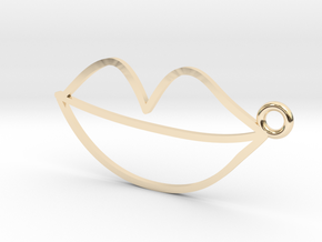 Lips Charm! in 14K Yellow Gold