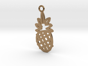 Pineapple Charm! in Natural Brass