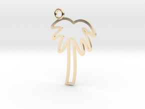 Palm Tree Charm! in 14K Yellow Gold