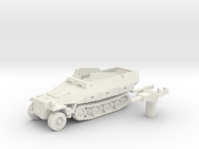 Sd.Kfz 251 vehicle (Germany) 1/87 in White Natural Versatile Plastic
