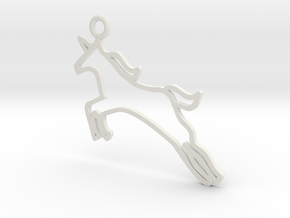 Unicorn Charm! in White Natural Versatile Plastic