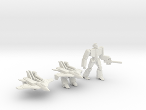 Omega Fighter in White Natural Versatile Plastic