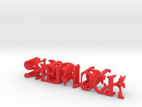 3dWordFlip: SHERLOCK/MORIARTY 14.5 x 2.5 x 2.5 cm in Red Processed Versatile Plastic
