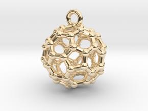 BuckyBall C60 Pendant 1 cm in 14K Yellow Gold