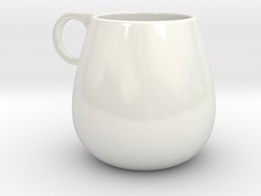 Coffee Mug in Gloss White Porcelain