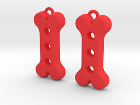 Dog Treat Earrings in Red Processed Versatile Plastic