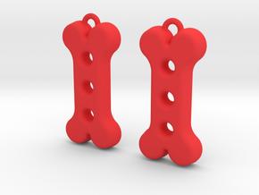Dog Treat Earrings in Red Processed Versatile Plastic