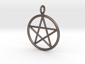 Simple pentagram necklace in Stainless Steel