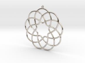 Cyclic-harmonic Pendant in Rhodium Plated Brass