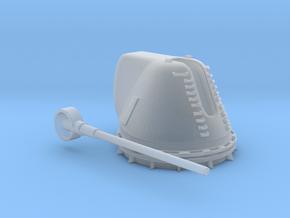 1/350 USN 8 inch 55 Mark 71 Cal Deck Gun in Smooth Fine Detail Plastic