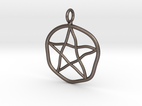 Warped pentagram necklace in Stainless Steel