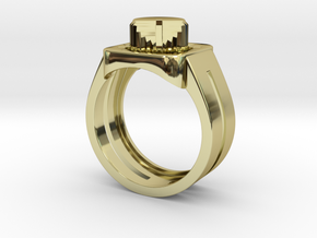 303 Acid Ring in 18k Gold Plated Brass: 7 / 54