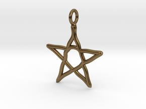 Warped star necklace in Natural Bronze