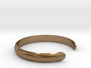 Easy Bracelet Medium Curved in Natural Brass