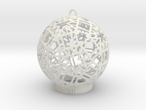 Modern Ornament in White Natural Versatile Plastic