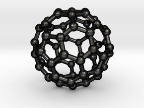 Buckyball C60 Nano Carbon Small (2cm) in Matte Black Steel