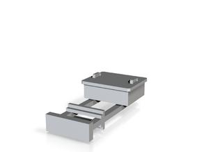 TJ-H04679 - Boitier STM sur poteau métallique in Smooth Fine Detail Plastic
