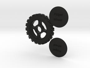 Fidget Wheel in Black Strong & Flexible