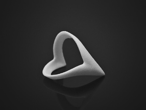 Wish-Bone Ring (v1.2) in White Strong & Flexible: 6.5 / 52.75