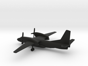 Antonov An-32P Firefighting in Black Natural Versatile Plastic: 1:285 - 6mm
