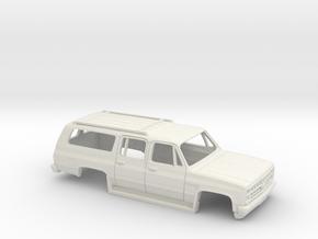 16,5 cm 1986 Chevrolet Suburban in White Natural Versatile Plastic