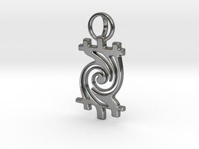 Timetwist - Pendant in Polished Silver