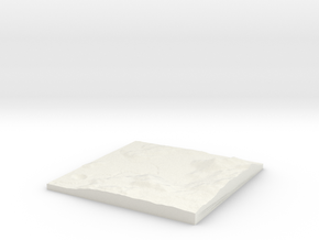 Custom-able Diorama Base 01 in White Natural Versatile Plastic