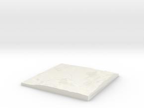 Custom-able Diorama Base 01 in White Natural Versatile Plastic