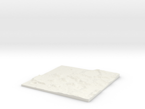 Custom-able Diorama Base 02 in White Natural Versatile Plastic