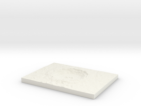 Customizable Diorama Base 03 Crater  in White Natural Versatile Plastic