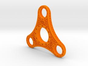 "Skyrim ""Dwemer"" style fidget spinner - Plastic in Orange Processed Versatile Plastic"
