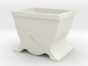 Schraubenkästchen Bauhaus 27mm in White Strong & Flexible