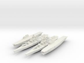Set of 2 USS Iowa 2 USS Enterprise 1/3000 in White Strong & Flexible