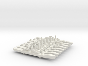 Leander Frigate Set, 8pc, 1/1800 in White Strong & Flexible