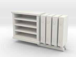 Bedroom Bureau 01. O scale (1:48) in White Natural Versatile Plastic